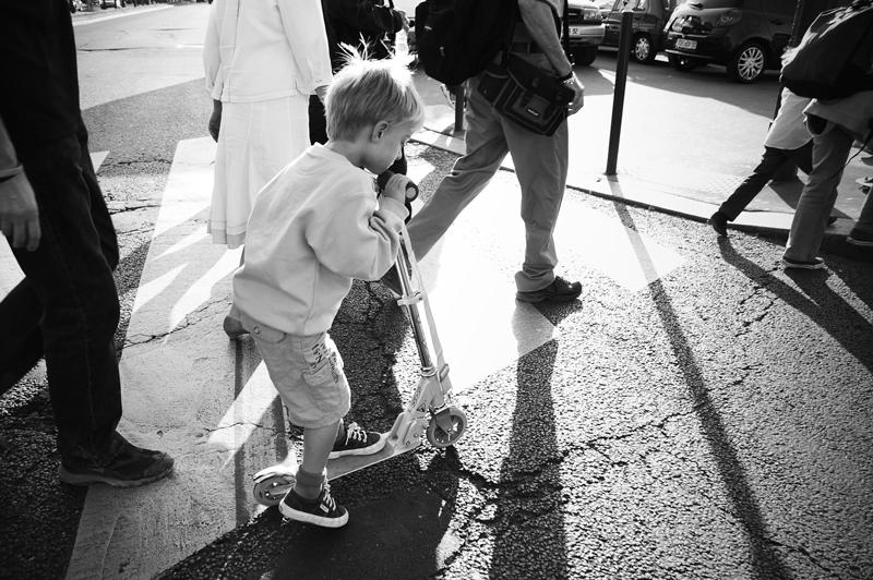 paris_little boy scooter_b&w_small